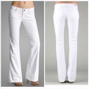 Paige white bootcut jeans